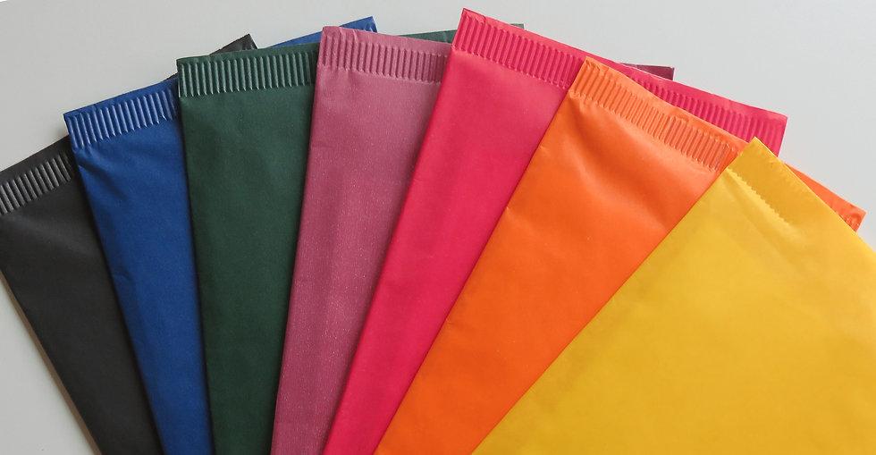 Ventaglio di buste portaposate colorate