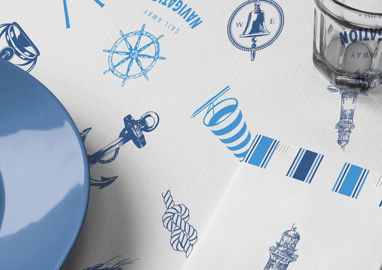Set coordinato in carta - Navigation