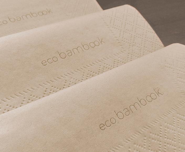 Tovaglioli in ovatta due veli Ecobambook