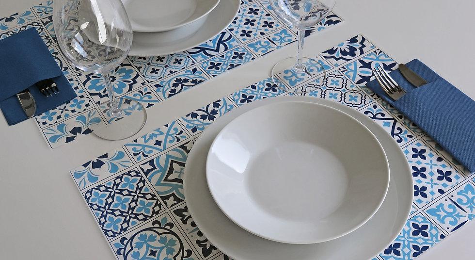 Tovagliette TOP LINE in carta - Azulejos Blu