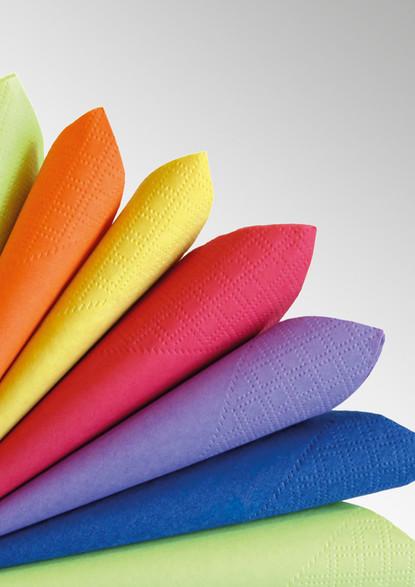 Tovaglioli in ovatta colorati