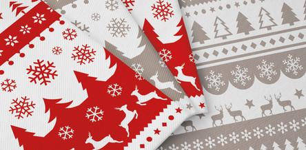 Tovaglioli in Airlaid - Winter Rosso e Tortora