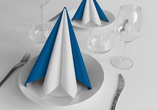 Tovaglioli in Ovatta - Vel-One blu e bianco