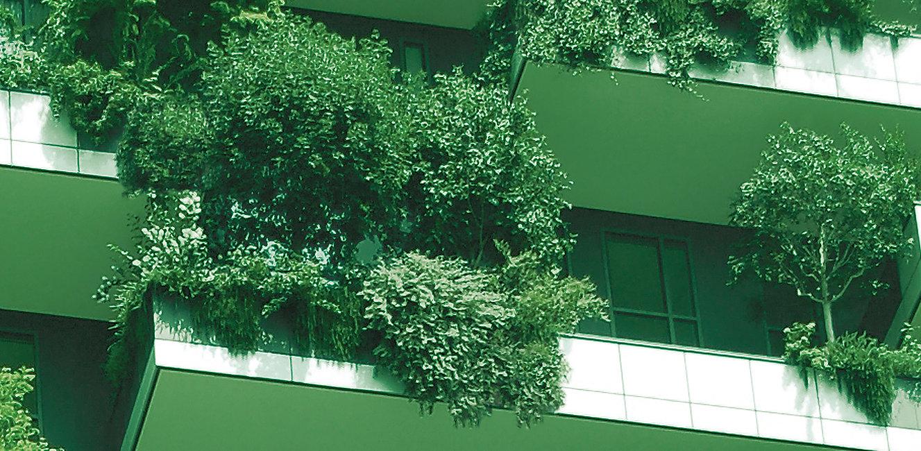 Facciata Bosco Verticale con piante
