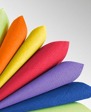 Tovaglioli colorati in Ovatta