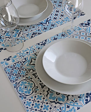Tovagliette TOP LINE in carta - Azulejos Blu
