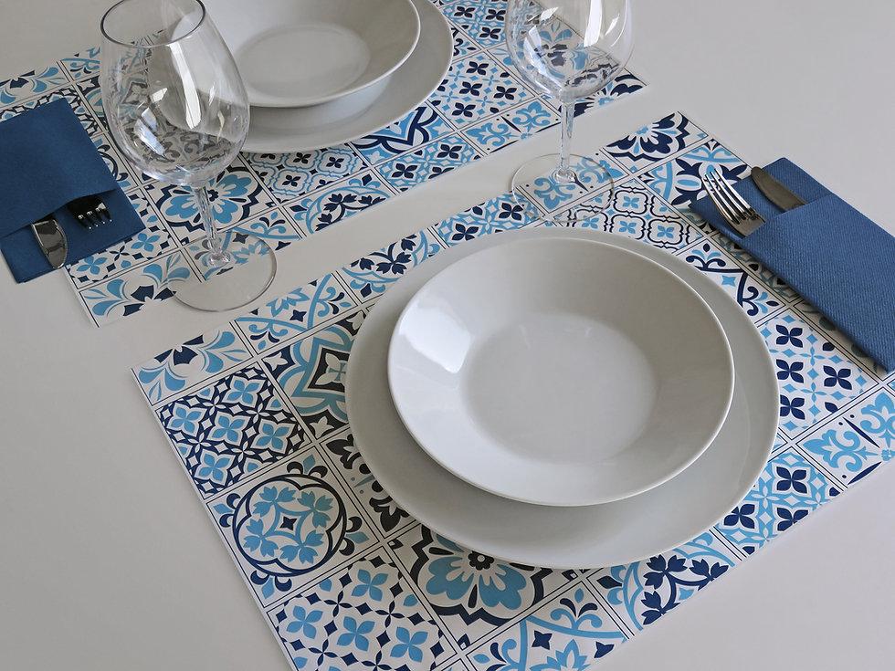 Tovaglietta TOP LINE in carta - Azulejos Blu
