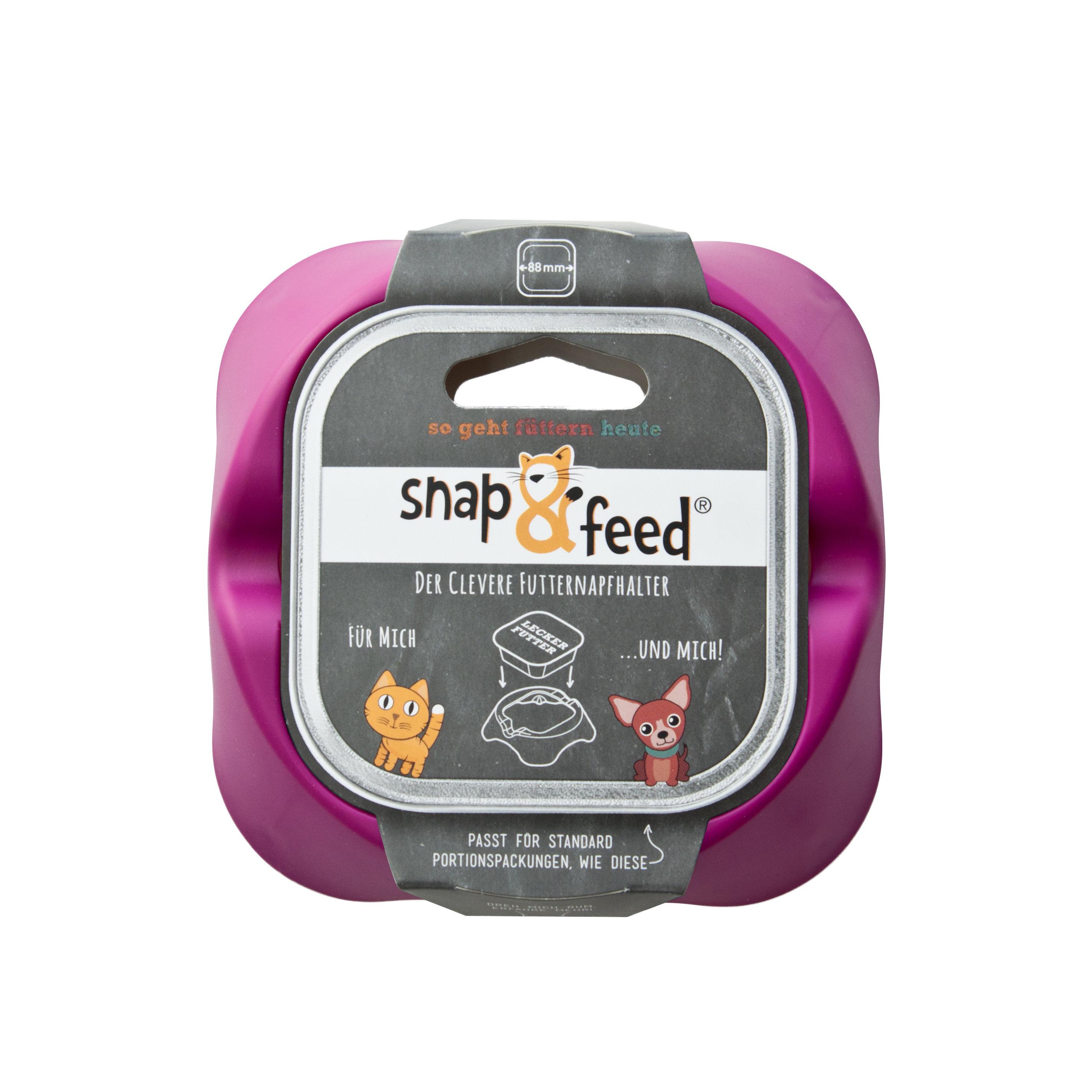 Futternapf Snap&Feed violett