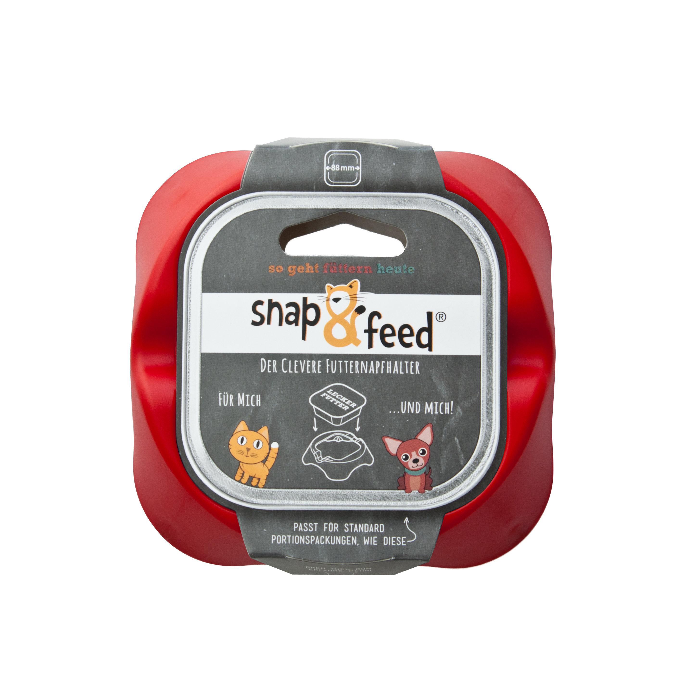 Futternapf Snap&Feed rot