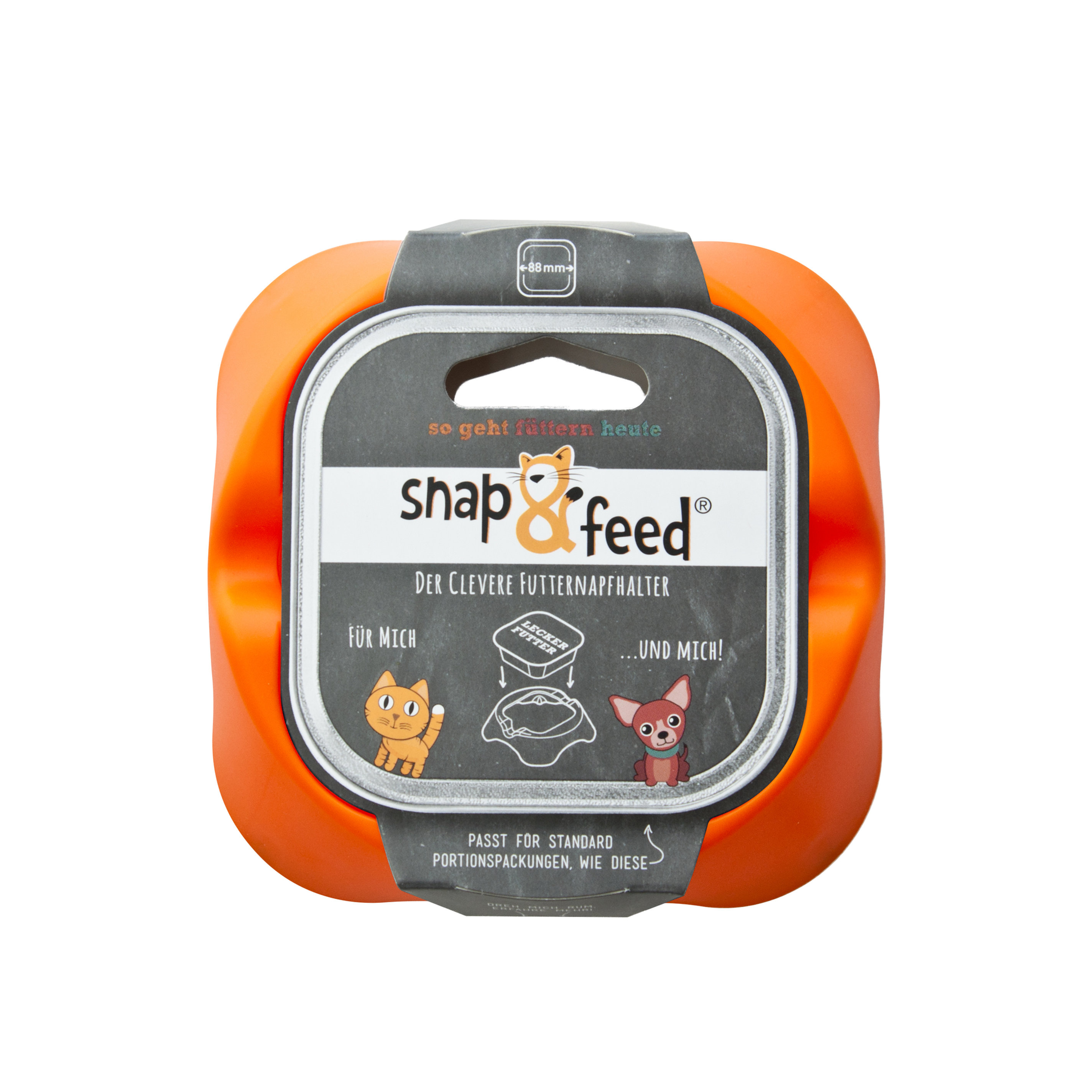 Futternapf Snap&Feed orange