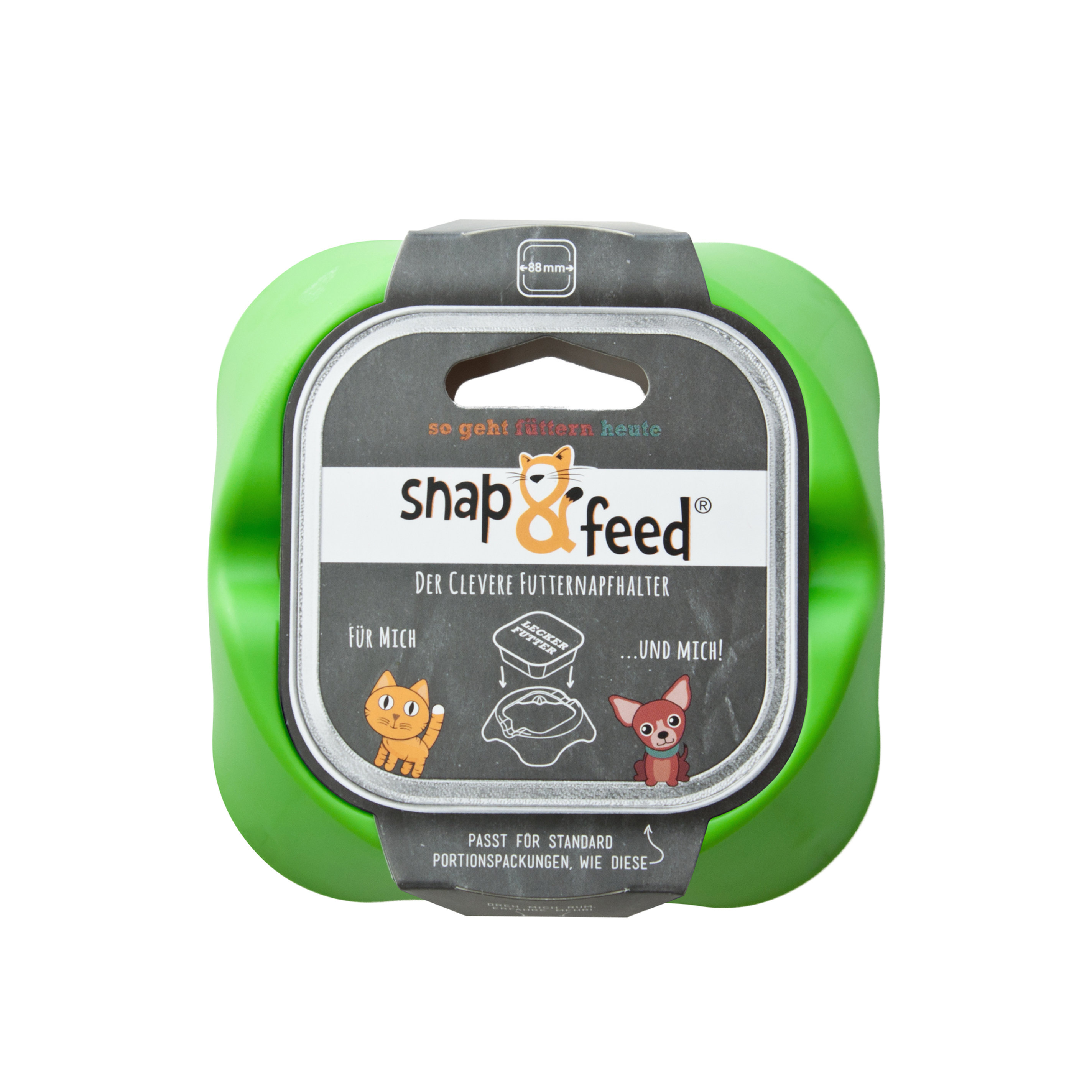 Futternapf Snap&Feed grün