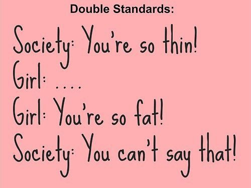 Body Shaming Double Standards