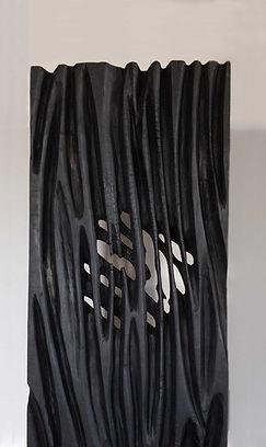 Kunst. Holzskulptur. Herbert Nicklis.