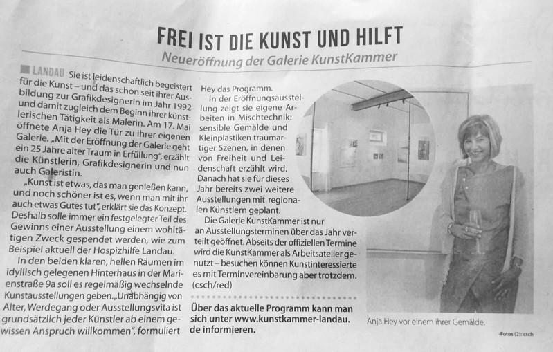 Kunstkammer Vorstellung Zeitung