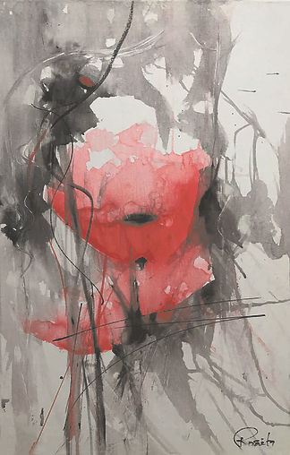 Kunst. Bild. Mohnblume von Rosieta Braun