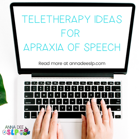 Distance Learning Activities for Speech Therapy of Apraxia of Speech
