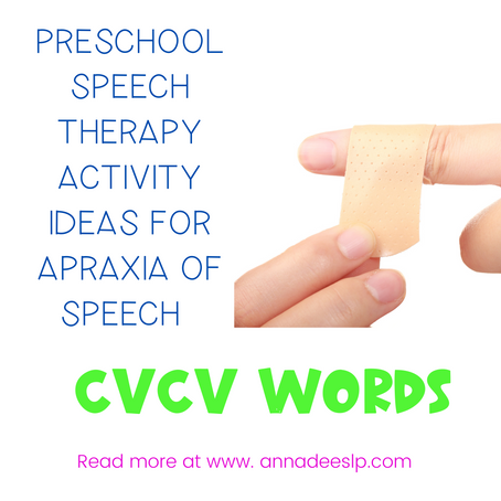 Apraxia of Speech Treatment Activity for Toddlers and Preschoolers