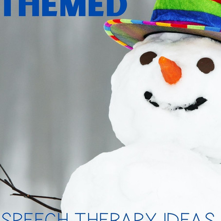 Low-Prep Activities and Therapy Ideas for Winter Preschool Speech Therapy Sessions