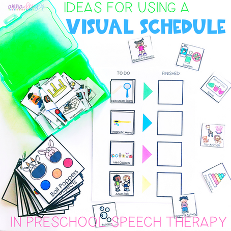 Ideas for Using Visual Schedules during Preschool Speech Therapy Sessions