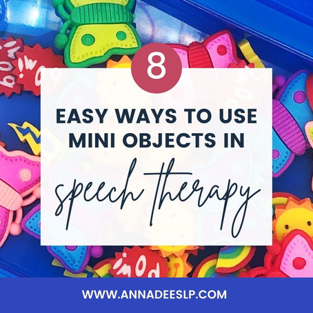 8 Easy Ways to Use Mini Objects in Speech Therapy
