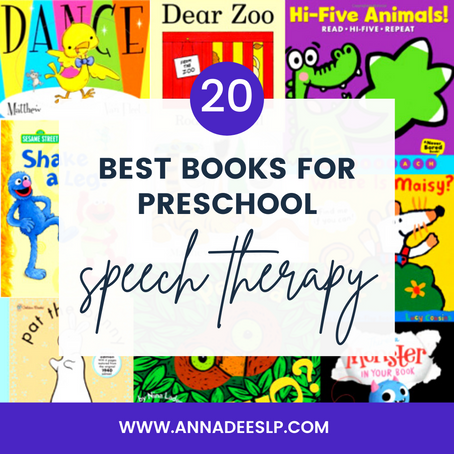 The Best Books for Preschool Speech Therapy