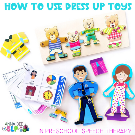 How to Use Dress Up Toys for Preschool Speech Therapy