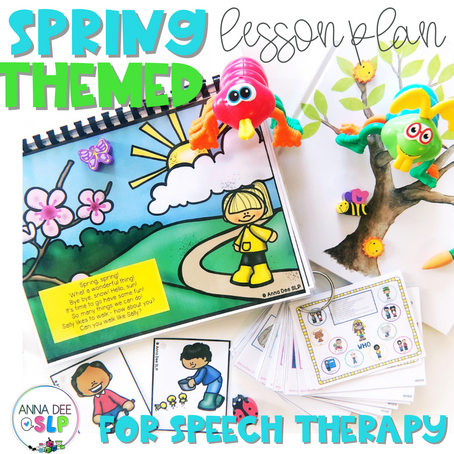 Spring Theme Lesson Plan for Speech Therapy