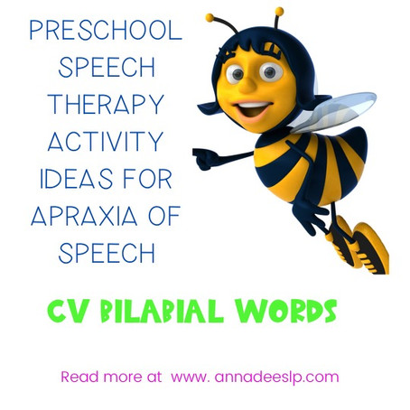Preschool Speech Therapy Lesson Plan for Apraxia of Speech