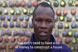 Ugandan Man who is building houses from plastic bottles