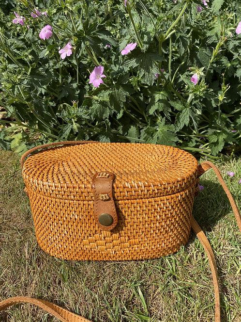 Crossover Basket Rattan Bag