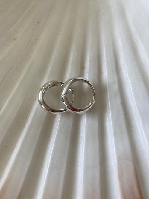 Huggie Sterling Silver Earrings