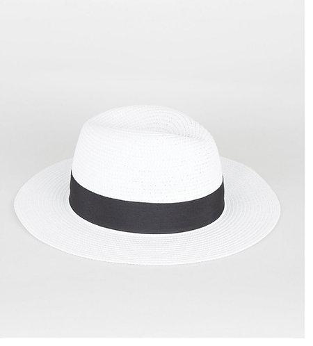 White Woven Fedora Hat - Unisex