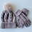 Thumbnail: Cable Knit Pompom Hat & Glove Set