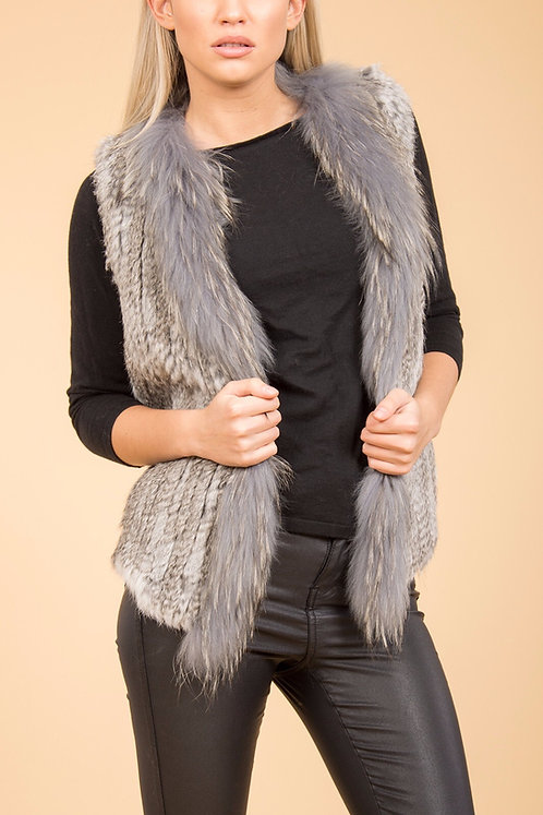 Classic Coney Fur & Fox Fur Gilet
