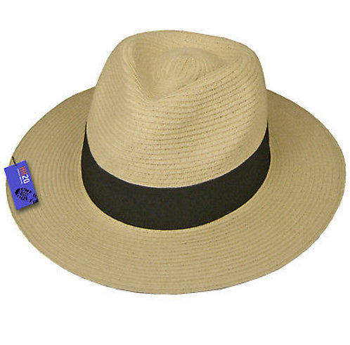 Foldable Panama Straw Hat - Unisex