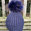 Thumbnail: Hat with Removable Fur Pom Pom