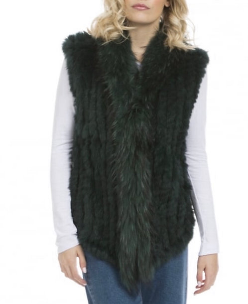 Classic Coney Fur & Fox Fur Gilet
