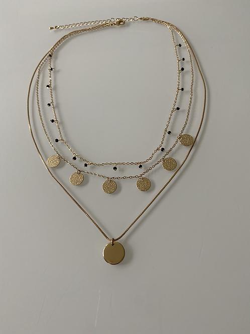 3 Row Drop Necklace - Adjustable