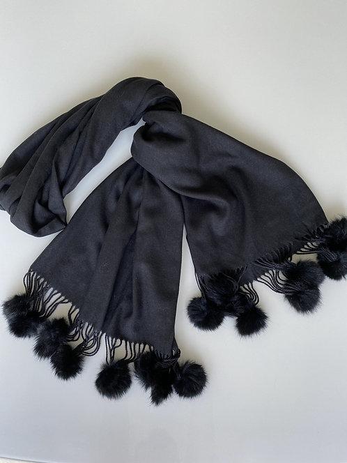 Cashmere & Real Fur PomPom