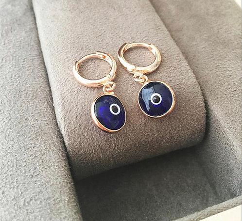 Evil Eye Huggie Earrings