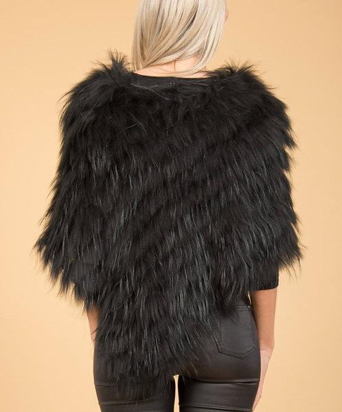 Fur Poncho - Real Fur