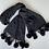 Thumbnail: Black Cashmere Shawl/Scarf