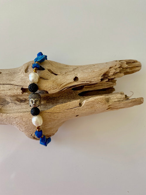 Pearl & Natural Stone Bracelet