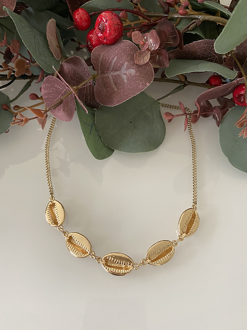 Gold Cowrie Shell Necklace