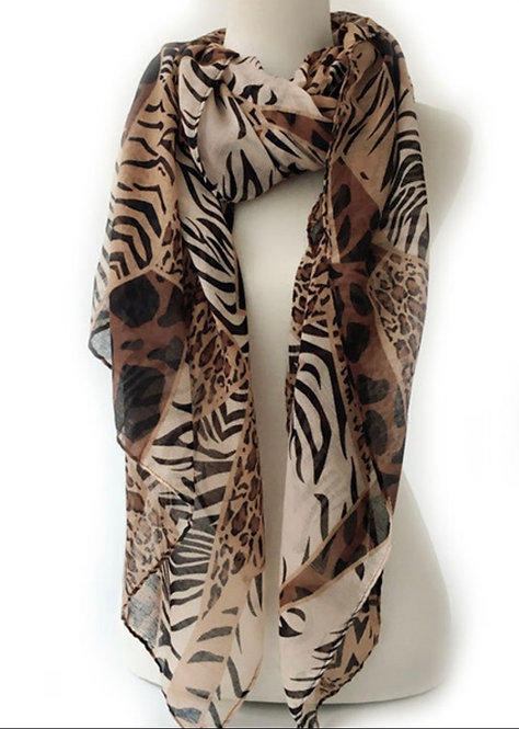 Long Soft Leopard Print Scarf