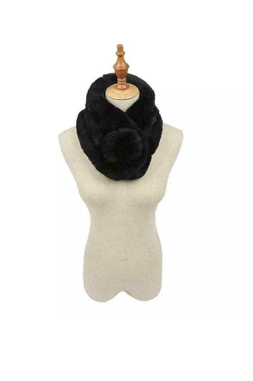 Faux Fur Collar With Pom Pom