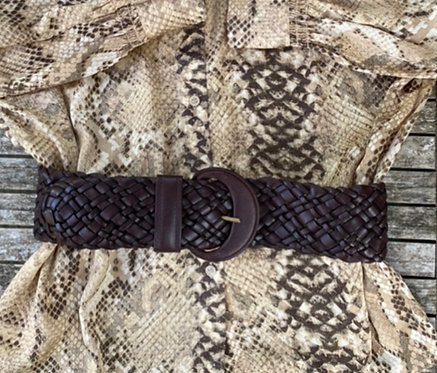 Chocolate Leather Hand Braided Belt