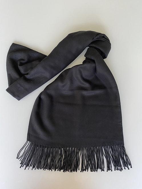 Black Cashmere Shawl/Scarf
