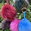 Thumbnail: Pom Pom Keyrings - Real Fur