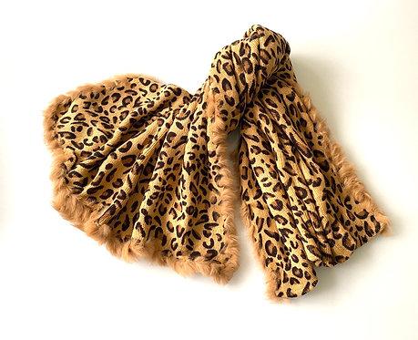 Long Leopard Scarf/Shawl